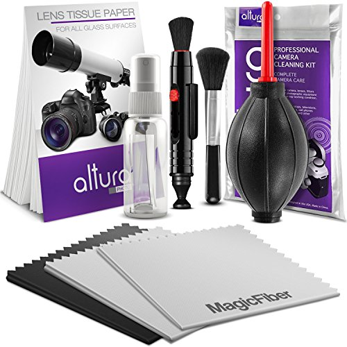 Lens Cleaner (Altura Photo Professional Cleaning Kit for DSLR Cameras and Sensitive Electronics Bundle with Refillable Spray)