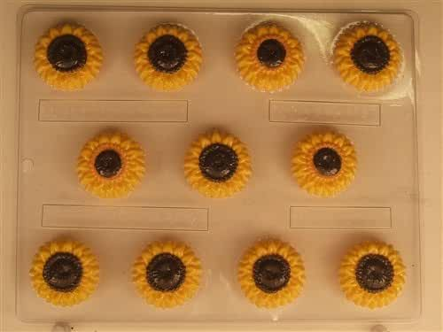 Small sunflower mints AO116 All Occasion Chocolate Candy Mold