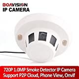 H.264 Covert Wired Ip Camera Real Time 1.0mp 720p Hd Onvif P2p Function Security Indoor Network Dome Cameras Smoke Style Hidden