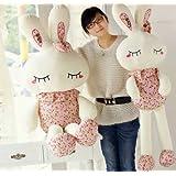 うさぎぬいぐるみ 可愛いウサギ 抱き枕 子供のプレゼントバレンタインデー/ふわふわぬいぐるみ/サイズ:100cm