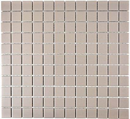 Mosaico in ceramica grigio chiaro unglasiert per piastrelle ...