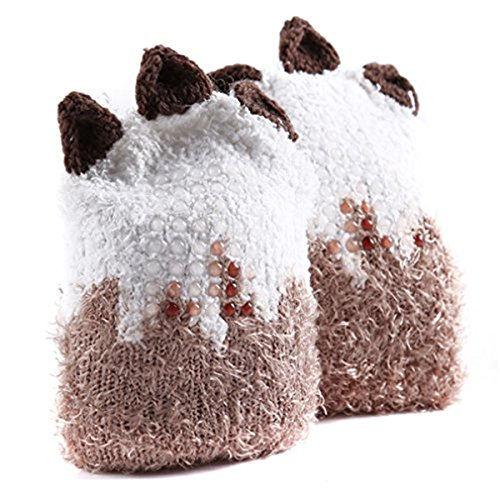 new HS 1 Pair Cute Cartoon Animal Baby Girls Boys Socks Knee High Stockings Anti Skid Socks (D) for sale