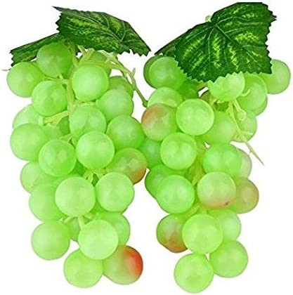 Wady - 2 uvas artificiales de plástico para vino, 36 piezas de 17 cm (verde)