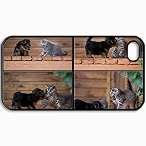 Customized Cellphone Case Back Cover For iPhone 4 4S, Protective Hardshell Case Personalized A Slap For A Kiss Black