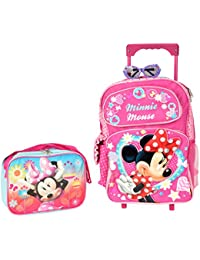 """Minnie Mouse Sparkle Girls 16"""" inches Large Rolling Backpack for School"""