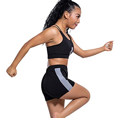 232966cdafba Amazon.com  New Womens Tank Crop Top Short Pants Two Piece Outfit Summer  Casual 2 Piece Set Tracksuits Jumpsuits Rompers  Clothing