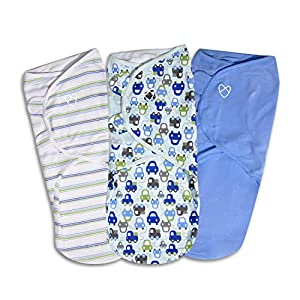 SwaddleMe Original Swaddle – Size Large, 3-6 Months, 3-Pack (Graphic Car )
