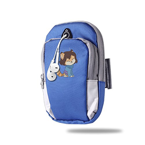 Video Game Cartoon Frisk Outdoor Sports Armband Arm Package Bag Cell Phone Bag Key Holder For Iphone 6/6s/7/7p One Size RoyalBlue (Jumanji Video Game)