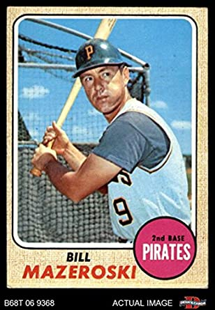 Amazoncom 1968 Topps 390 Bill Mazeroski Pittsburgh