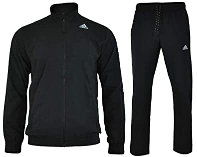 0d34fd81c092 adidas S TS Ess WV Tracksuit Black Men  Amazon.co.uk  Sports   Outdoors
