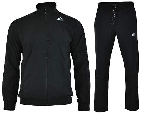 Adidas S TS ESS WV Survêtement Homme Noir  Amazon.fr  Vêtements et ... 057c64b40f0