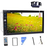 7-Inch Double-DIN Car Stereo Radio Audio Touchscreen LCD Monitor DVD/CD/MP3/MP4/USB/SD/AM/FM/Bluetooth Car DVD Player With Camera