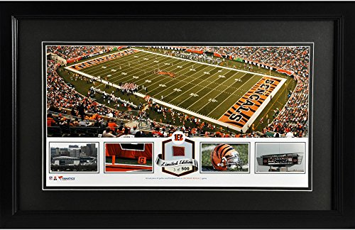 Paul Brown Stadium Cincinnati Bengals Framed Panoramic Collage with Game-Used Football - Limited Edition of 500 - Fanatics Authentic Certified