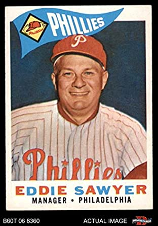 Amazoncom 1960 Topps 226 Eddie Sawyer Philadelphia Phillies