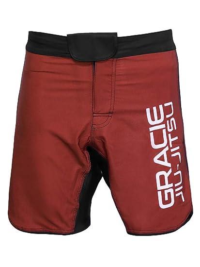 Amazon com : Gracie Jiu-Jitsu Ultralight Fight Shorts (Red) : Sports