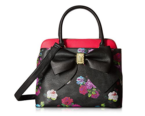 Betsey Johnson Womens Bag - Betsey Johnson Women's Bow Satchel Floral One Size