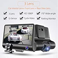 OVERMAL 3 Lens 4  G-sensor HD 1080P Car DVR Dash Cam Video Recorder Rearview Camera