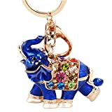 Betterdecor Feng Shui Lucky Elephant Key Chain Key Ring Handbag Hanging for Good fortune (with a Pouch)