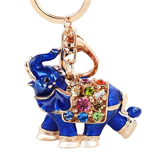 Betterdecor Feng Shui Lucky Elephant Key Chain Key Ring Handbag Hanging for Good fortune (with a Pouch) by Betterdecor