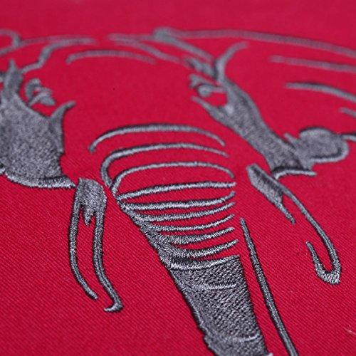 D'oreiller De nbsp;x Casstar Décoration lit Brodée Couvre 7 Ginxu Silhouette Éléphant 45 Carré Taie Animal 100 45 Pour Coussin nbsp;cm Coton 7 Housse PgHP4