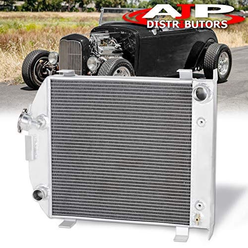 AJP Distributors TRI-CORE/3-Row Grill-Shell Street Rod/Rat Rod Full Aluminum High Performance Racing Radiator Engine Cooling For 1932 Ford Low Boy Lo-Boy 32 Upgrade Replacement Assembly ()