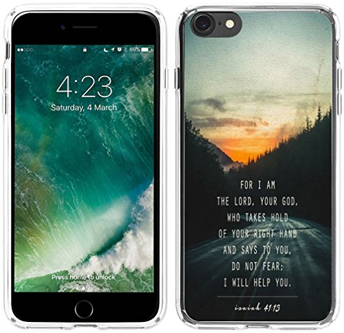 6S Case Christian Theme,Hungo Soft TPU Silicone Protective Cover Case Compatible with iPhone 6/6S Bible Verses for I Am The Lord,Your God Who Takes Hold of Your Right Hand Isaiah