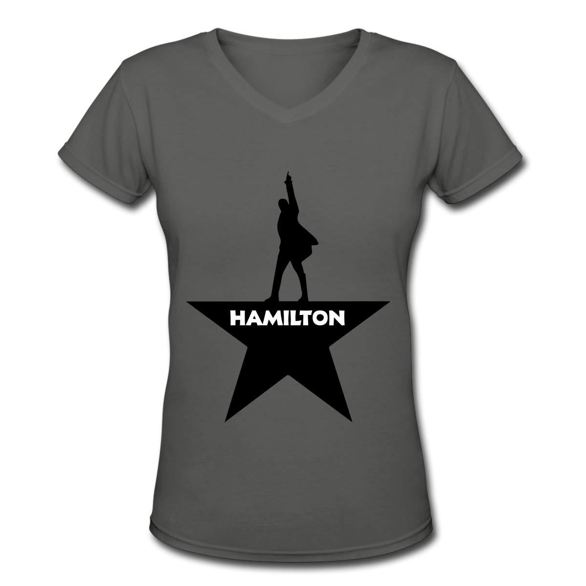 Hamilton The Musical Womens Short-Sleeve V Neck Basic T Shirt Tops