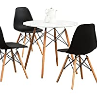 Aukronic Kitchen Dining Table Round Coffee Table Modern...