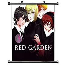Red Garden Anime Fabric Wall Scroll Poster (32 x 35) Inches[TJ]-Red-13 (L)