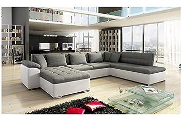 2b39d50297a110 Chloe Design Canapé d angle Convertible en u Alta III - Angle Gauche - Gris