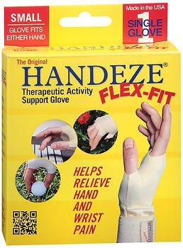 HandEze Flex-Fit Therapeutic Glove Small, Beige - Each, Pack of 6