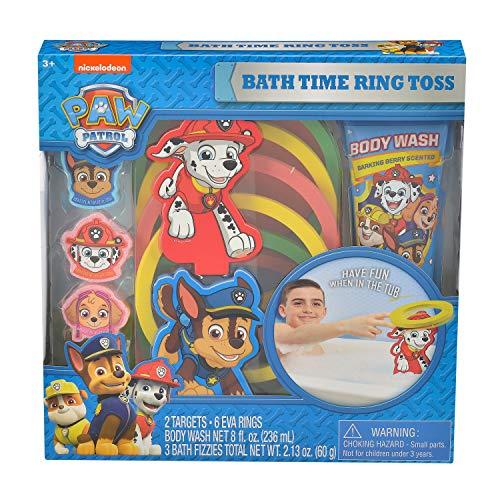 Toss Bath (Sarah Nicole PAW Patrol Bath Time Ring Toss Game and Body Wash Set)