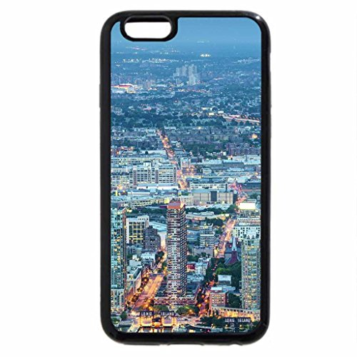iPhone 6S / iPhone 6 Case (Black) panoramic cityscape at sundown