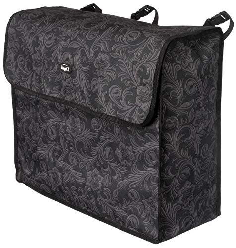 Tough-1 Blanket Storage Bag Black Tooled Leather by Tough-1