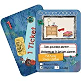NEATLINGS Chore Cards Self-Care Deck ● 34 Self-Care Chores & 21 Ticket Cards ● Reward & Responsibility ● Dark Blue