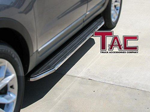 TAC 2011-2016 FORD EXPLORER RUNNING BOARDS (Drilling Required Pinch Weld) BLK Side Step Nerf Bars