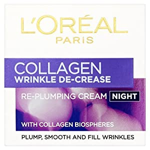 L'Oreal Dermo-Expertise Wrinkle De-Crease Collagen Re-Plumper Night Cream 50ml