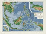 1952 Map Indonesia and the Philippines - Size: 18x24 - Ready to Frame - Indonesia | Philippines | In
