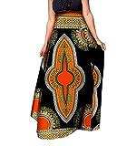 SportsX Womens Dashiki Half Big Pendulum African Print Classic Long Skirt 2 2XL