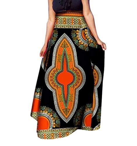 SportsX Womens Dashiki Half Big Pendulum African Print Classic Long Skirt 2 2XL by SportsX