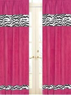 Wonderful Sweet Jojo Designs 2 Piece Funky Zebra Window Treatment Panels