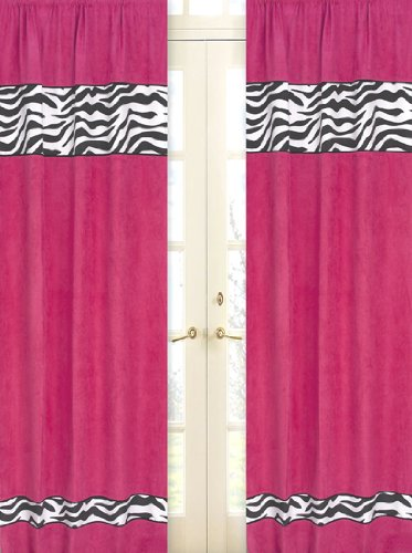 Sweet Jojo Designs 2-Piece Funky Zebra Window Treatment Panels ()