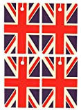 Set of Four British Flag Air Fresheners, Vertical, Cedarwood Essential Oil