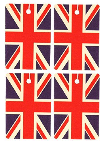 Jack Butterfly Garden (Set of Four British Flag Air Fresheners, Vertical, Butterfly Garden)