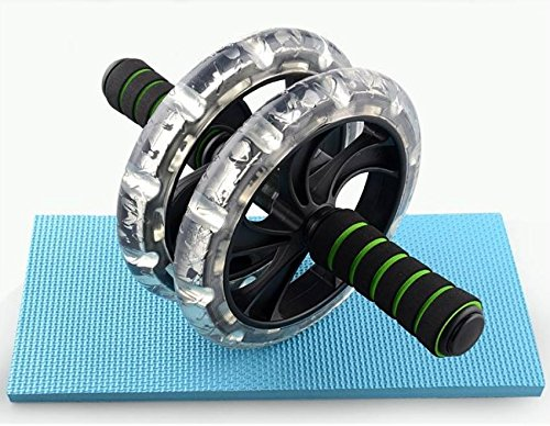 Fitness Abdomen Power Roller AB Roller Push-Up Training Double Wheel Muscle Exercise Body Building by U&L