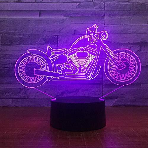 Lámpara LED 3D para moto, ilusión nocturna, 7 cambios de color ...