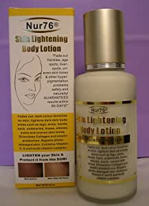 Nur76 Skin Lightening Body Lotion 125ml Whitener Acne by Nurjahan