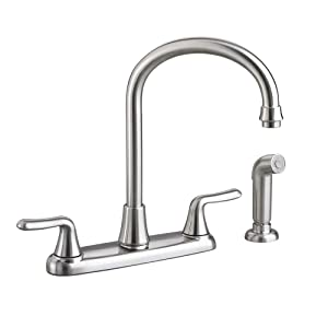 American Standard 4275.551.075 Colony Soft 2-Handle High-Arc Kitchen Faucet with Side Spray, Stainless Steel