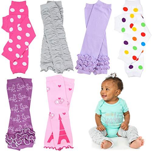 Newborn 6 Pack juDanzy Baby Leg Warmers (Newborn Girls 6 Pack)