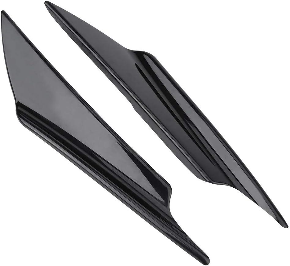 KIMISS ABS Plastic 4pcs Car Front Bumper Deflector Lip Splitter Fins Canards Body Spoiler Universal
